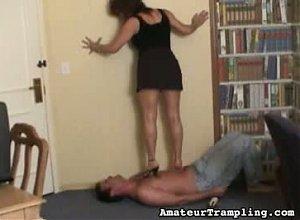 Amateur Trampling Video