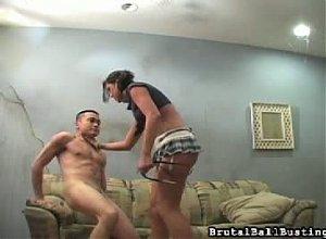 Brutal Ball Busting Video