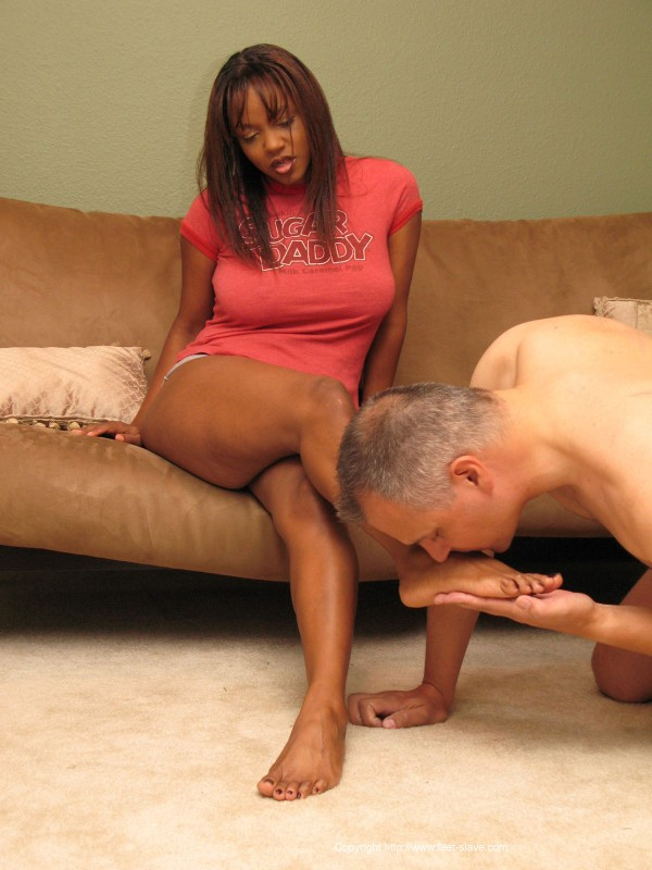 Ebony foot domination