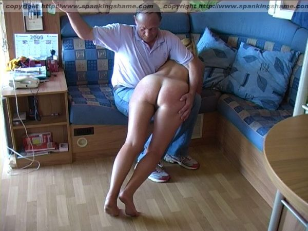 Have hit Older women spanked naked