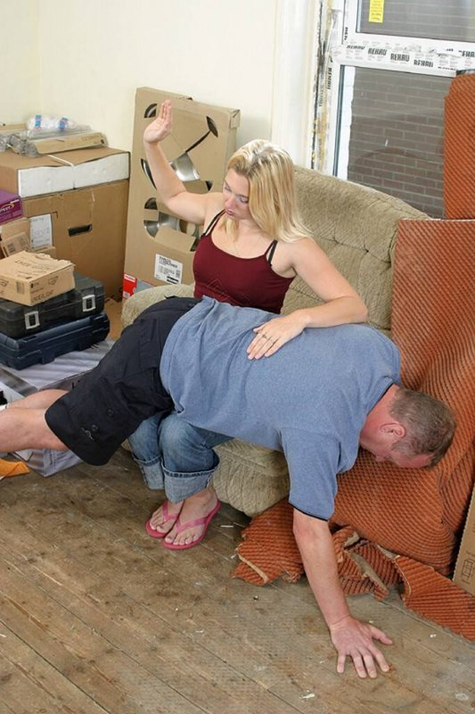husband Housewife spank by