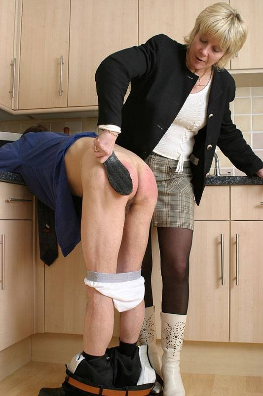 Strict wife punishment spank express their