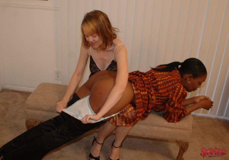 black girl getting spanked