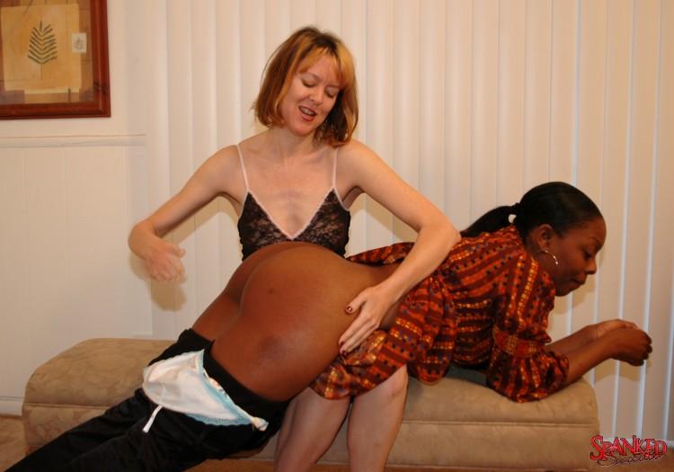 black girl spanking